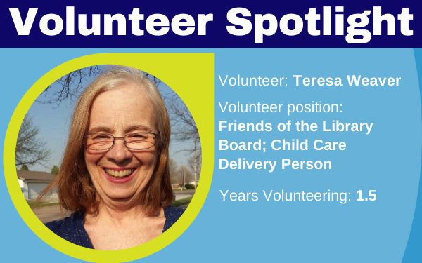 Volunteer Spotlight Teresa Weaver
