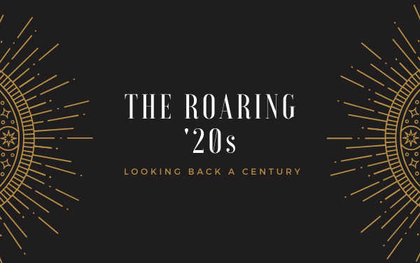The Roaring '20s art deco graphic