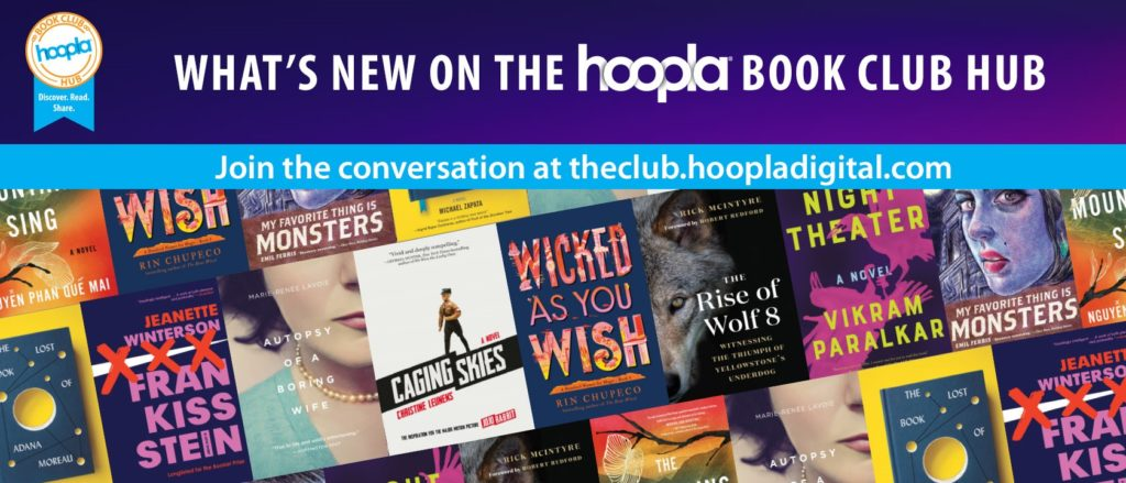 What's New on the Hoopla Book Club hub with book covers