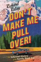 Don't Make Me Pull Over book cover
