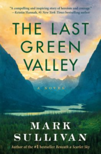book cover showing a valley between mountains