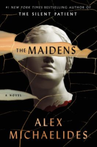 book cover showing a stone bust with book title covering eyes