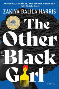 book cover showing side profile of a black woman with title text over entire image