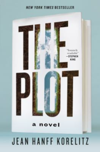 book cover showing a grave looking up to the sky within the title letters